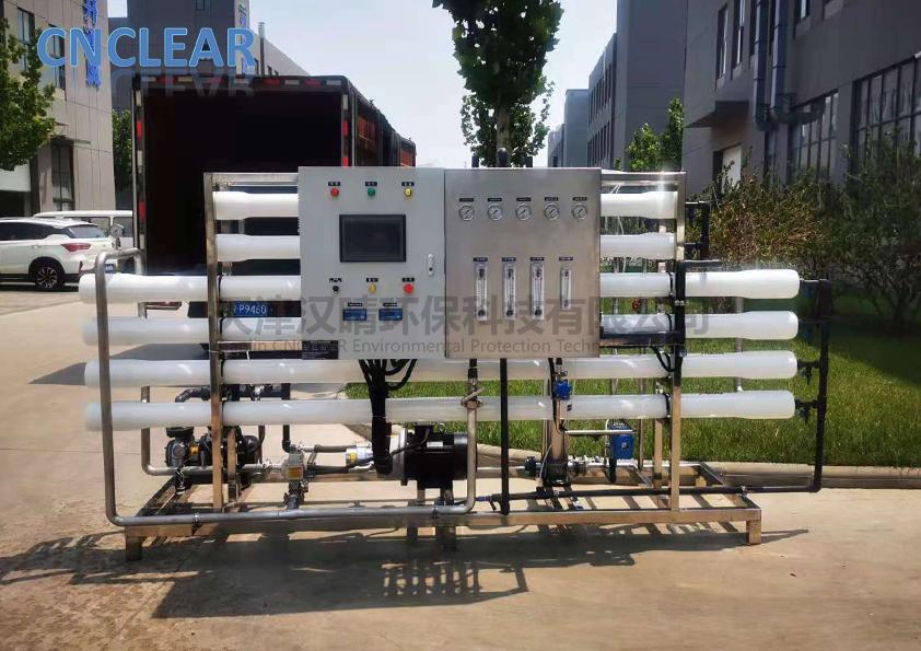 汉晴发货|汉晴环保25t/d海水淡化二级反渗透设备发货
